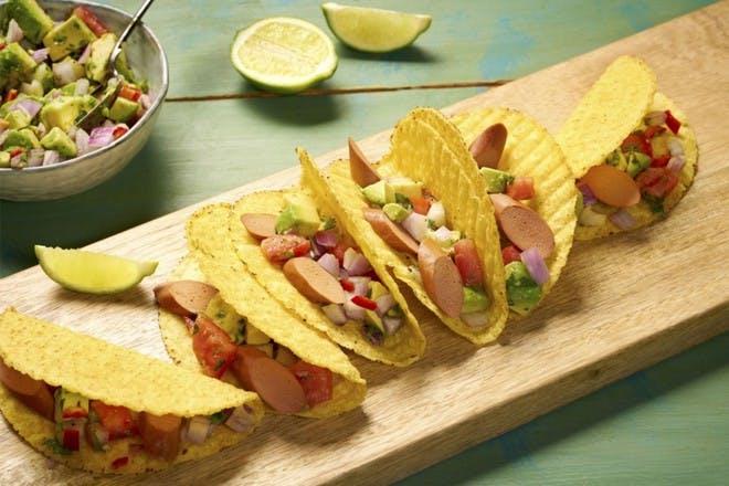 20. Quorn hot dog tacos