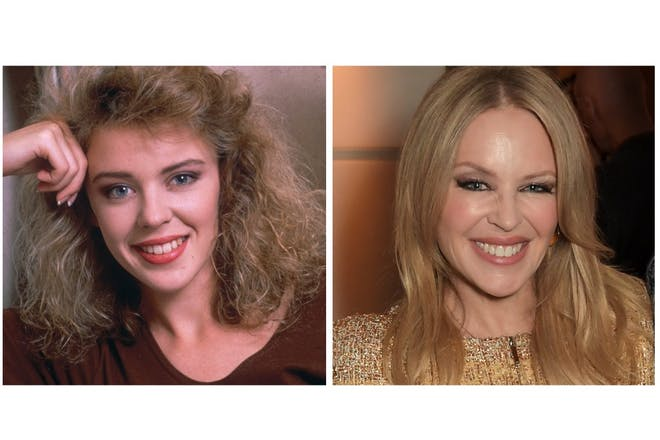 Kylie Minogue then and now