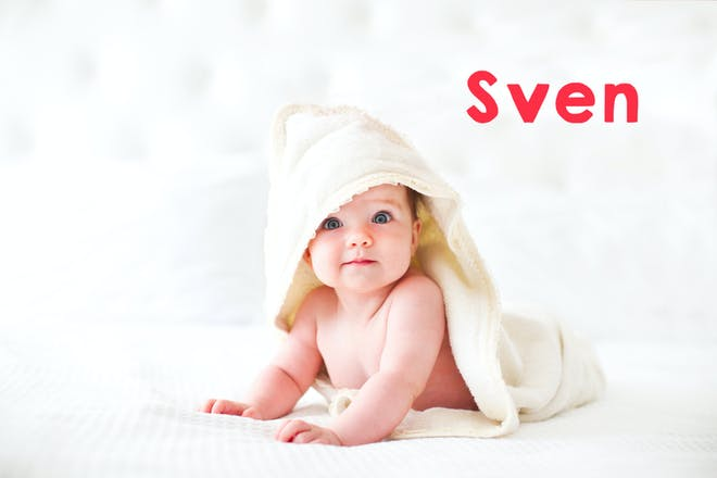 Baby wearing a white towel