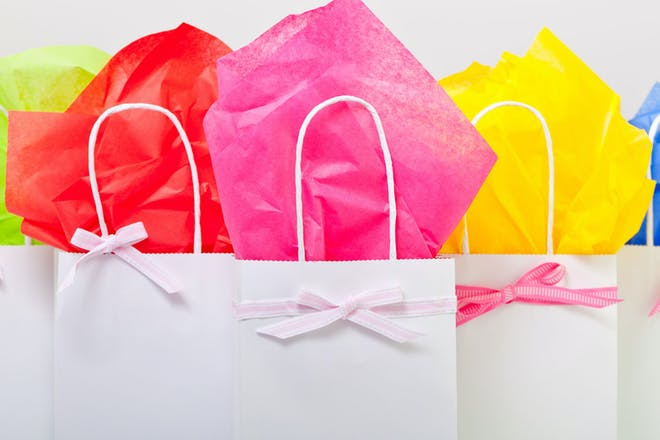 A selection of colourful party bags