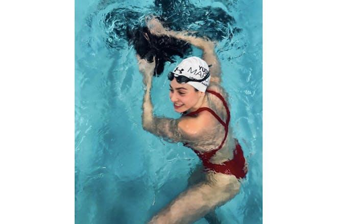 Yusra Mardini in the swimming pool