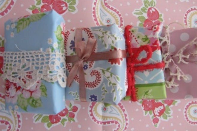 colourful and patterned wrapping paper on gifts