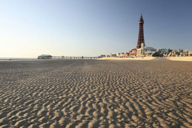 Blackpool Beach and the Golden Mile
