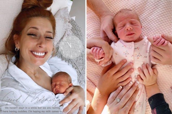 Left: mum and babyRight: baby