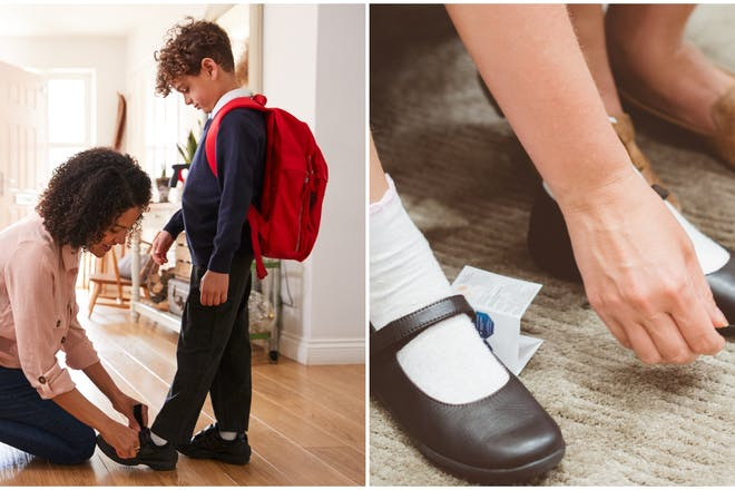 Buying child's school shoes