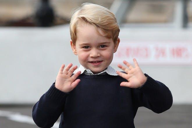 Prince George waving in Canada