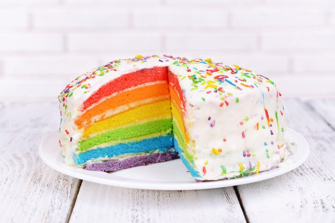 8. Rainbow cake