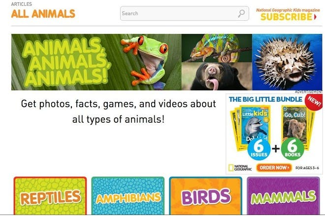 National Geographic Kids educational website