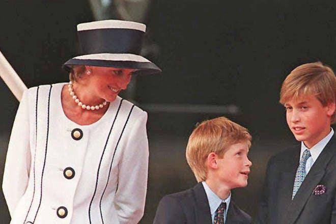 Princess Diana, Prince Charles, Prince William and Prince Harry