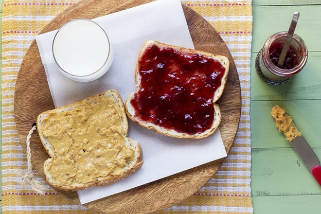 Peanut butter and jam/jelly sandwich