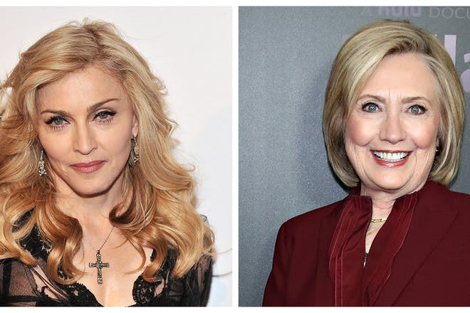 Madonna and Hilary Clinton