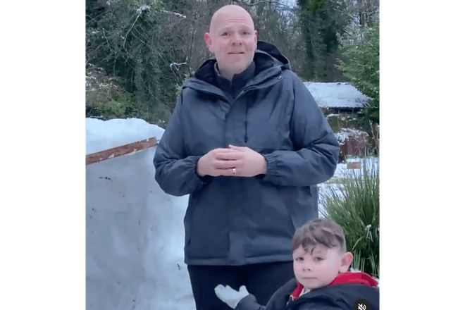 Tom Kerridge snow