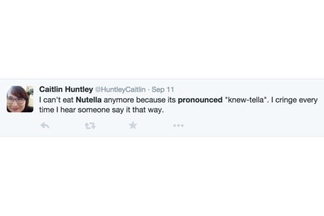 tweet about nutella