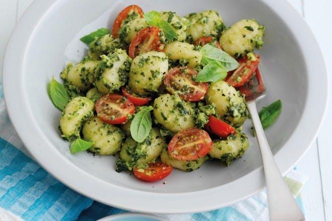Gnocchi with avocado pesto