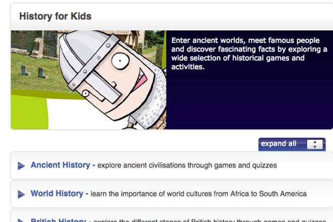 BBC History for Kids educational website