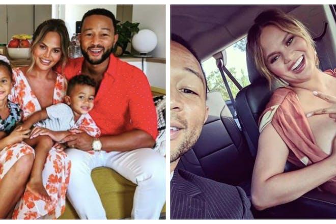 Chrissy Teigen and family / Chrissy Teigen pumping breast milk