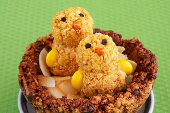 24. Nesting chick cake