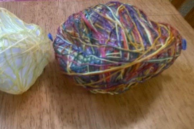 Easter egg string garland