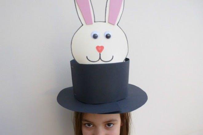 card rabbit top hat