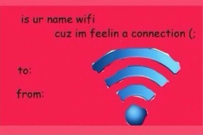 Valentine's Day card meme - WiFi