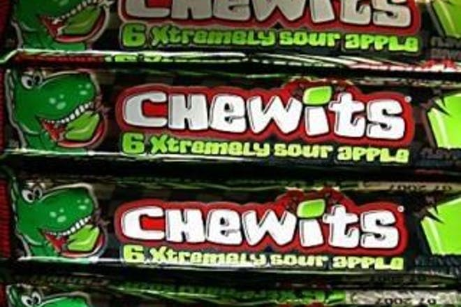 Chewits sour apple flavour