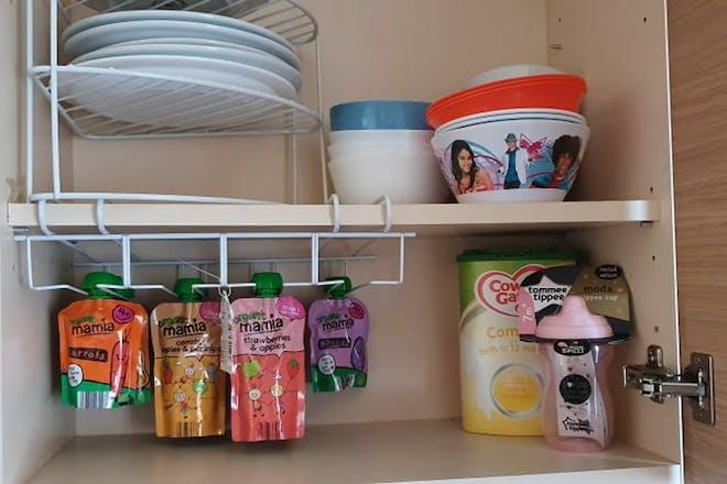 Food in a cupboard