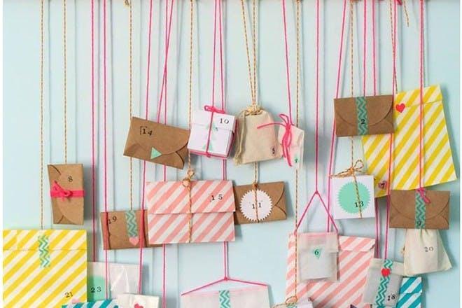 string bags advent calendar