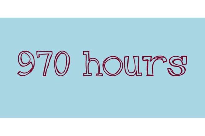 sleep hours on blue background
