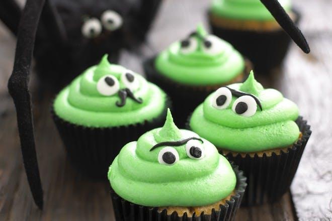 Monster Halloween cupcakes recipe
