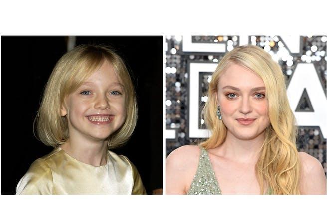 Dakota Fanning then and now