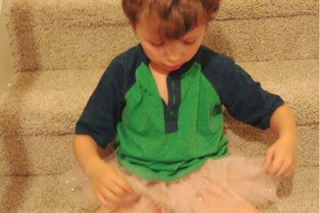 boy wearing tutu