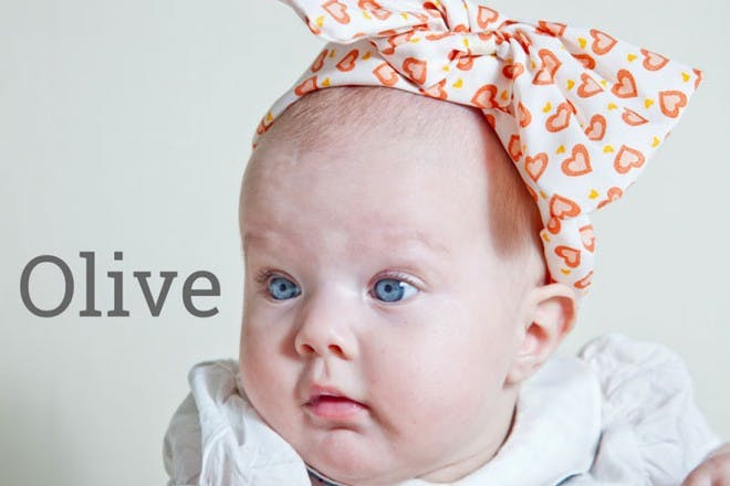 baby with head bandanna