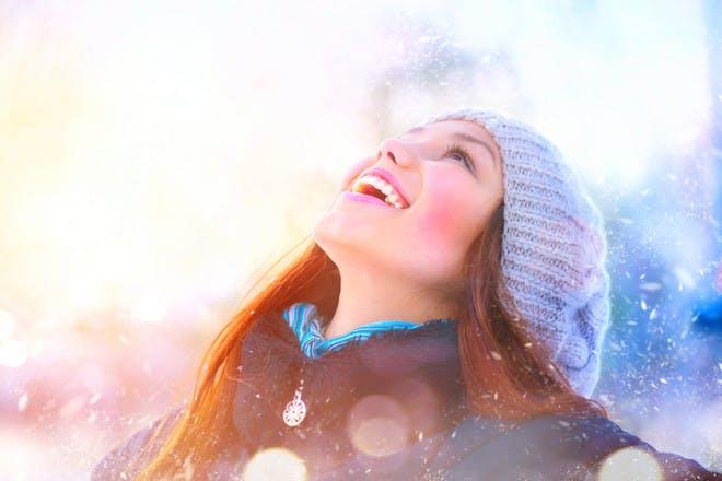 Teenage girl in winter