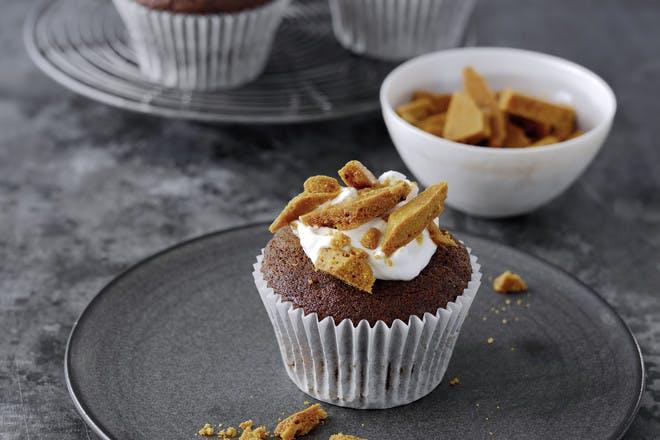 Cinder toffee cupcakes