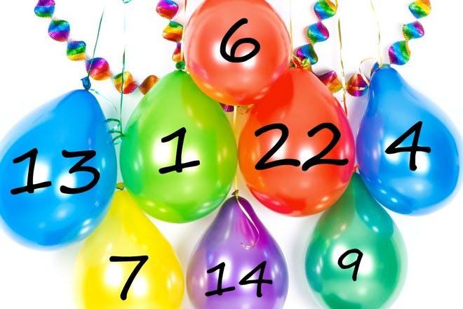 balloon advent calendar