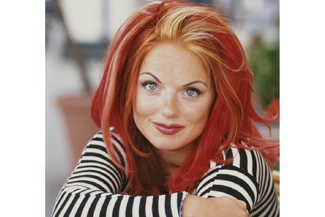 Geri Halliwell in 1996 with highlighted hair