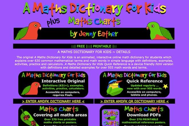A Maths Dictionary