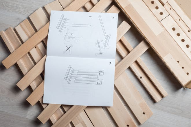 Flat pack furniture instructions