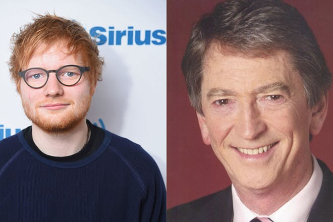 11. Ed Sheeran and Gordon Burns