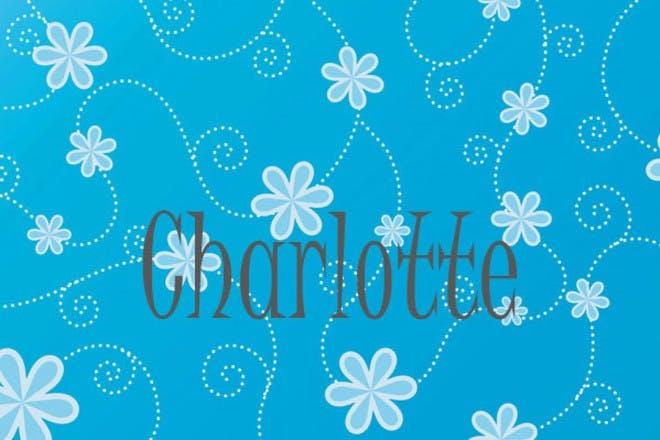 鲜花和蓝色背景样式