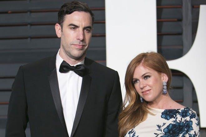 Isla Fisher and husband Sacha Baron Cohen