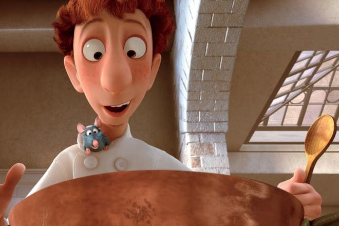 chef and rat from ratatouille