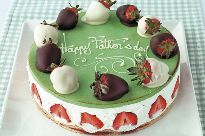 Father's Day marzipan cake