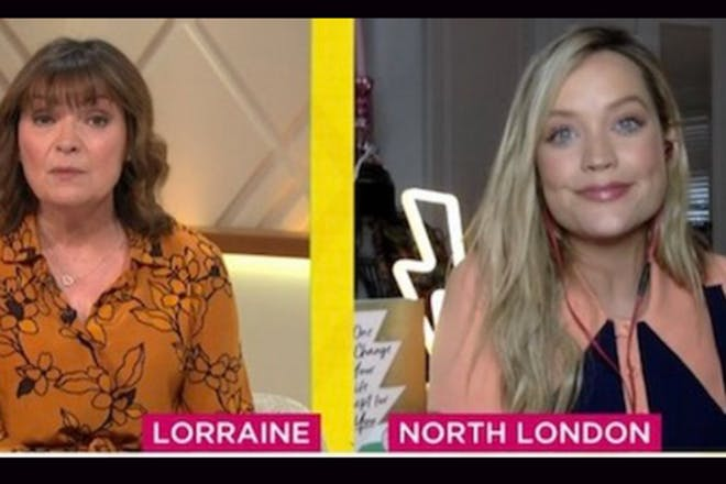 Lorraine Kelly and Laura Whitmore on the Lorraine show