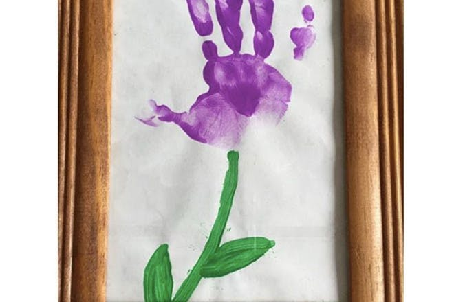 Flower handprint art