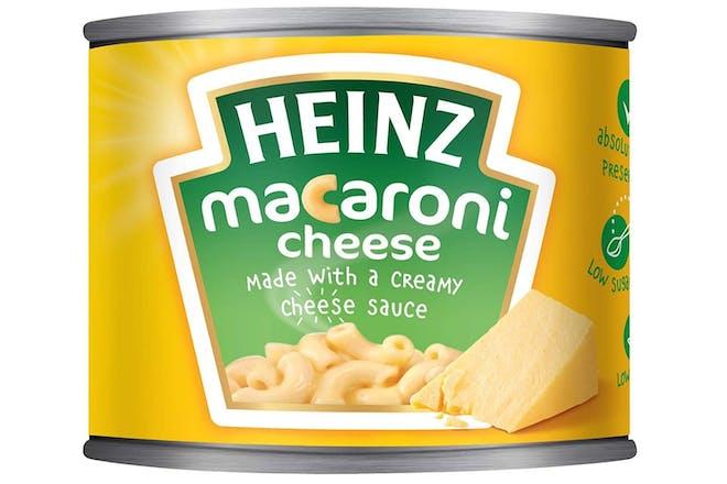 tin of Heinz macaroni cheese
