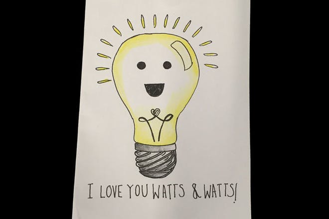 Mother's Day card with a lightbulb