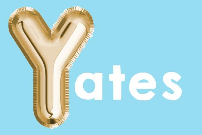 Yates 'y' name