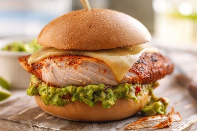 16. Mexican chicken burger