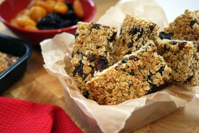 51. Nutty flapjacks